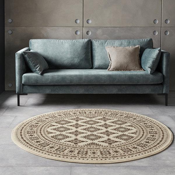 Rond Perzisch tapijt - Mirkan Sao Beige