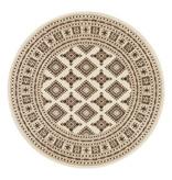 Nouristan Rond Perzisch tapijt - Mirkan Sao Beige
