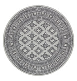 Nouristan Rond Perzisch tapijt - Mirkan Sao Grijs
