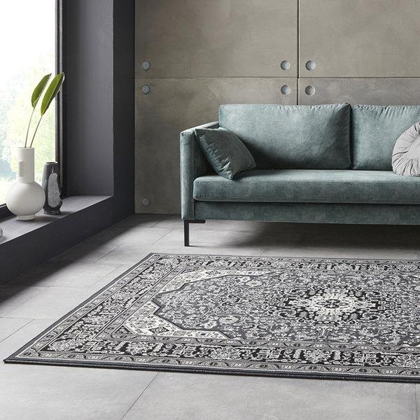 Perzisch tapijt - Mirkan Skazar Donkergrijs