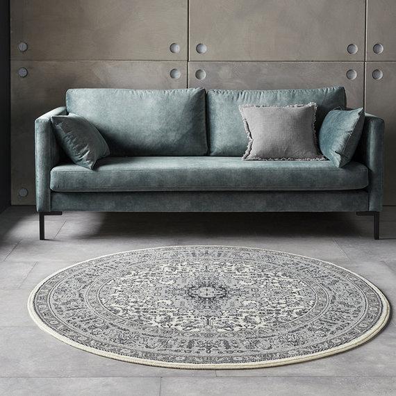 Nouristan Rond Perzisch tapijt - Mirkan Skazar Creme