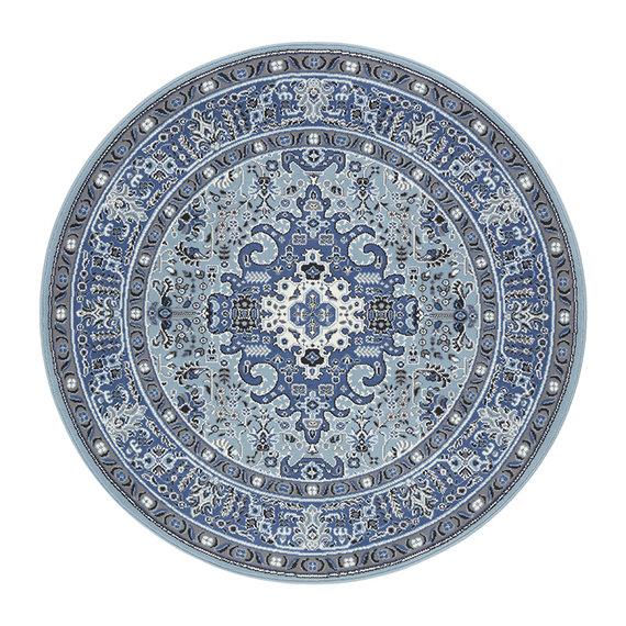 Nouristan Rond Perzisch tapijt - Mirkan Skazar Blauw