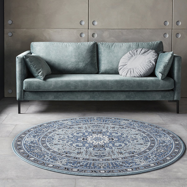 Rond Perzisch tapijt - Mirkan Skazar Blauw