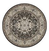 Nouristan Rond Perzisch tapijt - Mirkan Skazar Bruin Creme