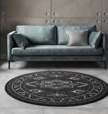 Nouristan Rond Perzisch tapijt - Mirkan Saricha Zwart