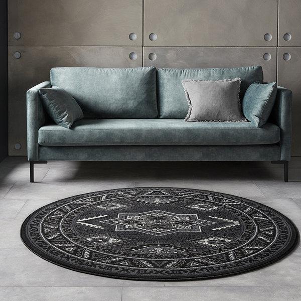 Rond Perzisch tapijt - Mirkan Saricha Zwart