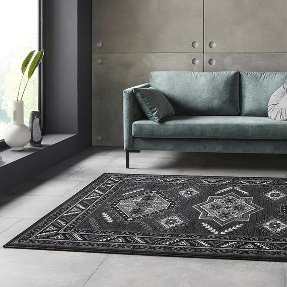 Nouristan Perzisch tapijt - Mirkan Saricha Zwart