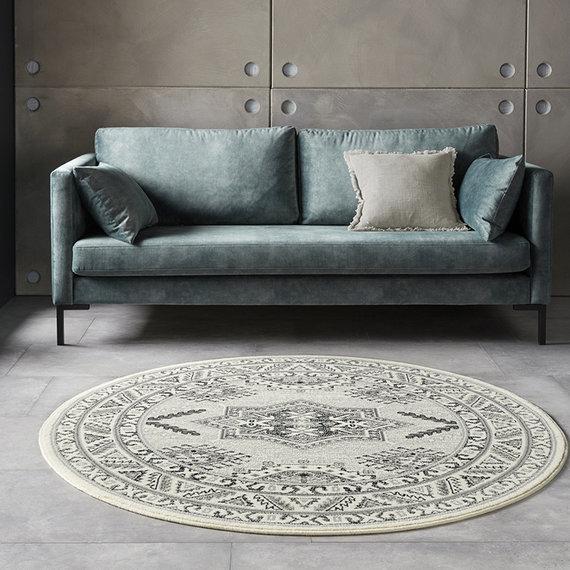 Nouristan Rond Perzisch tapijt - Mirkan Saricha Creme