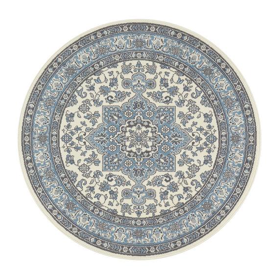Nouristan Rond perzisch tapijt - Mirkan Parun Blauw Creme