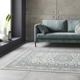 Nouristan Perzisch tapijt - Mirkan Parun Blauw Creme