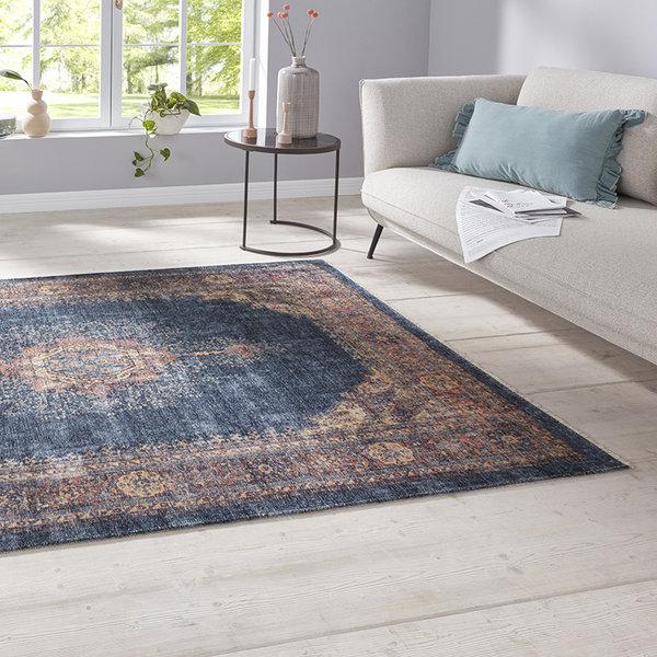 Perzisch tapijt - Farah Hamadan Donkerblauw