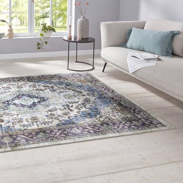 Nouristan Perzisch tapijt - Farah Keshan Paars Blauw