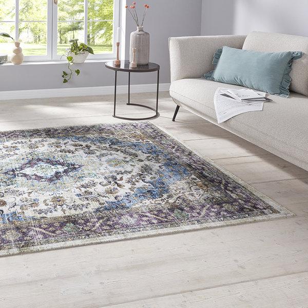 Perzisch tapijt - Farah Keshan Paars Blauw