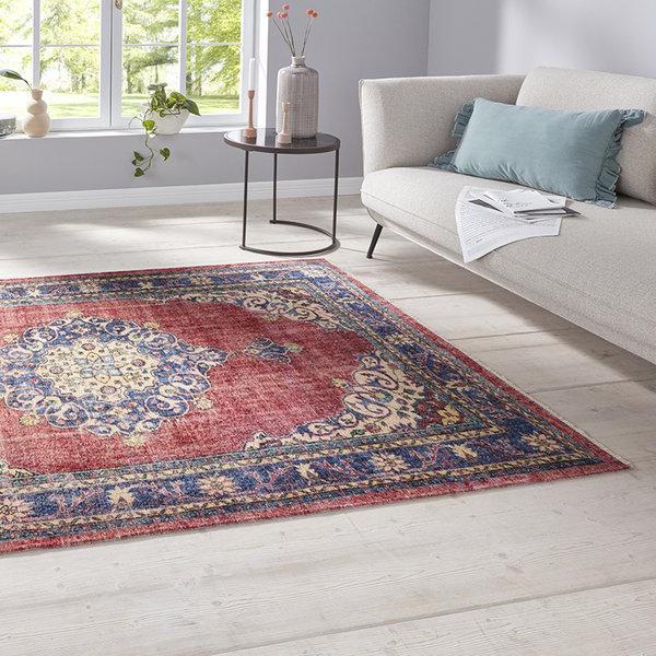 Perzisch tapijt - Farah Tabriz Indigo Rood
