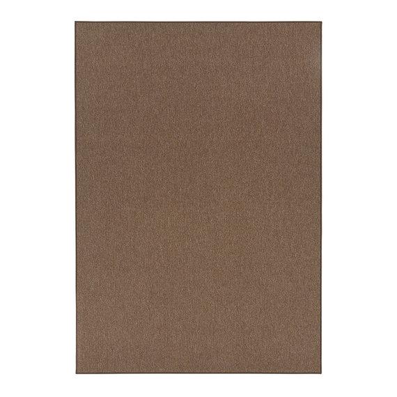 Effen vloerkleed - Casual Loop Bruin