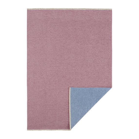 Hanse Home Effen vloerkleed - Duo Blauw Roze