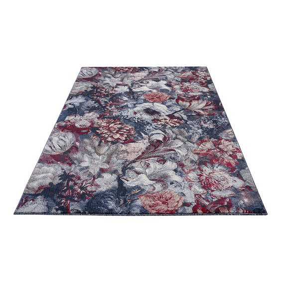 Mint Rugs Bloemen vloerkleed - Romance Symphony Blauw Rood