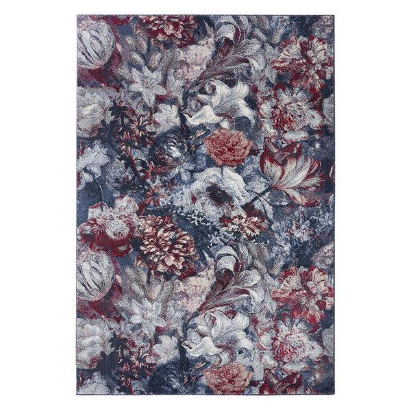 Bloemen vloerkleed - Romance Symphony Blauw Rood