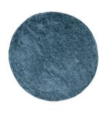 FRAAI Rond hoogpolig vloerkleed - Lofty Blauw