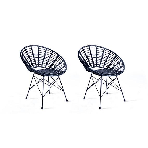 Lifa Living Rotan stoel - Panama Lifa Zwart Set/2