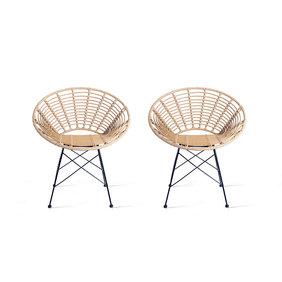 Lifa Living Rotan stoel - Panama Lifa Naturel Set/2