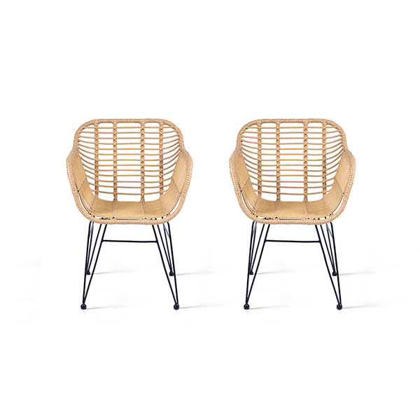 Lifa Living Rotan stoel - Rodri Naturel Set/2