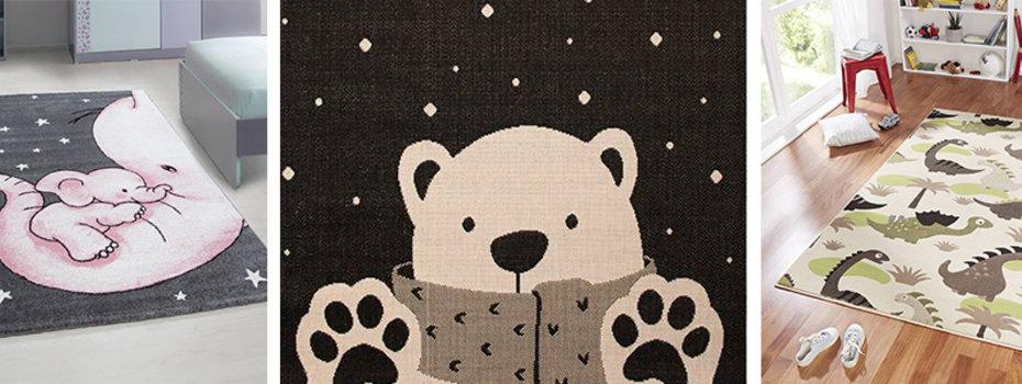 Een beren vloerkleed in de kinderkamer