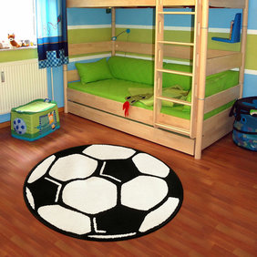 Hanse Home Rond voetbalkleed - Johan Zwart Wit
