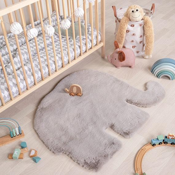 FRAAI Kindervloerkleed - Huggy Olifant Grijs