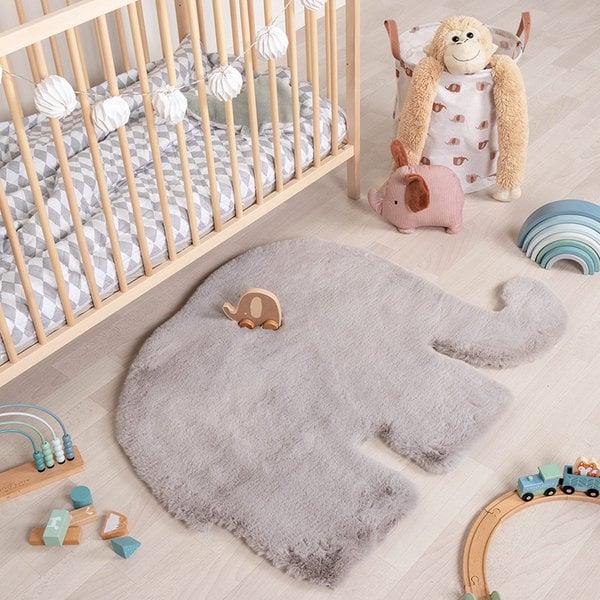 Kindervloerkleed - Huggy Olifant Grijs
