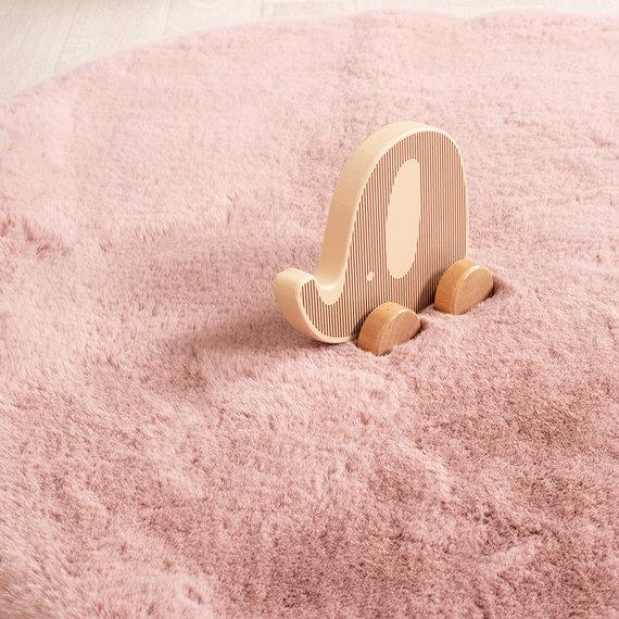 FRAAI Kindervloerkleed - Huggy Olifant Roze