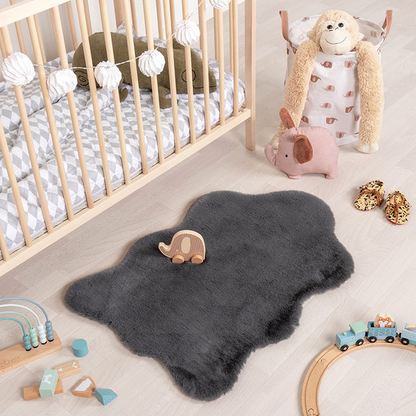 Kindervloerkleed - Huggy Schaap Antraciet