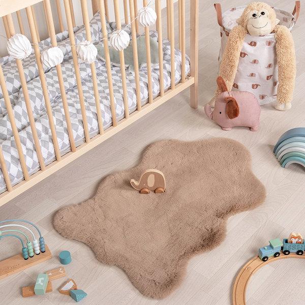Kindervloerkleed - Huggy Schaap Taupe