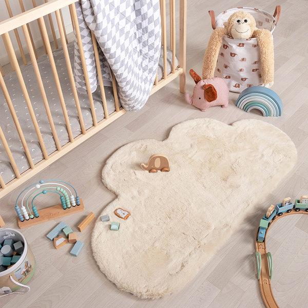 Kindervloerkleed - Huggy Wolk Creme