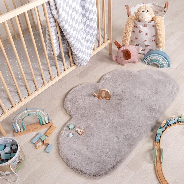 Kindervloerkleed - Huggy Wolk Grijs