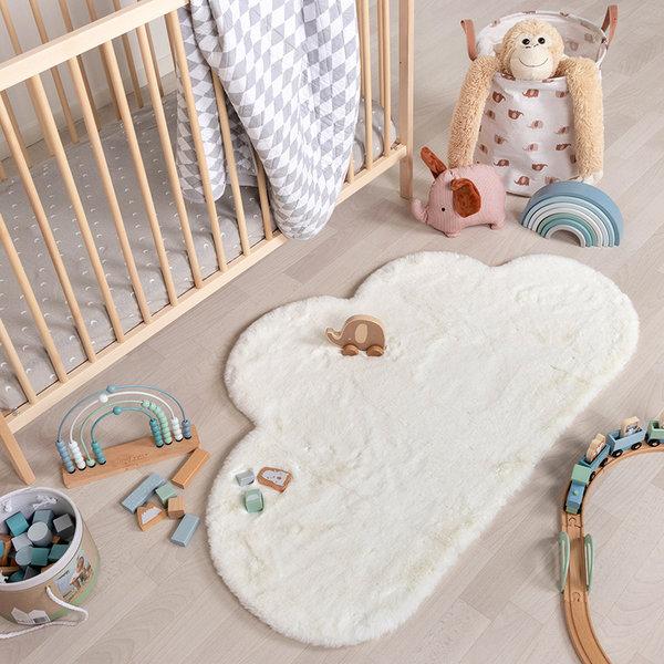 Kindervloerkleed - Huggy Wolk Wit