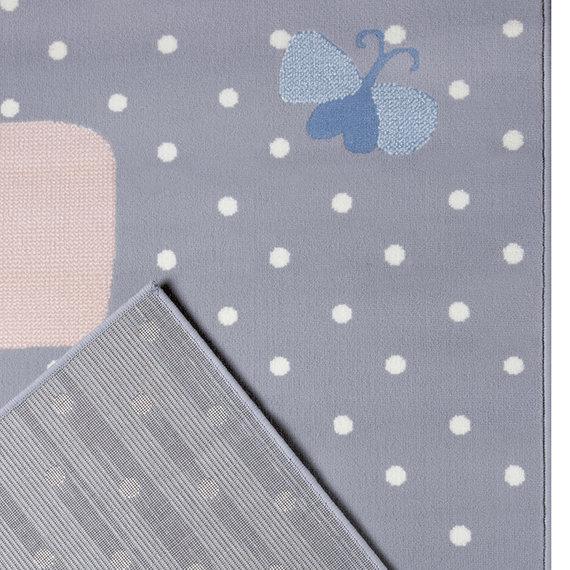 Hanse Home Kindervloerkleed - Lara Zebra Grijs