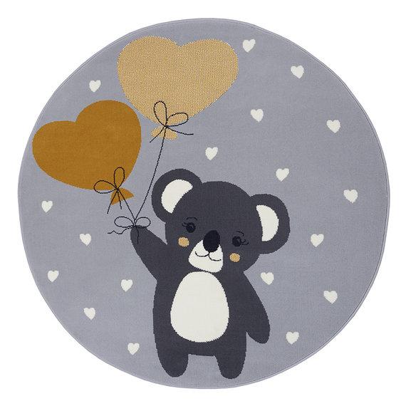 Hanse Home Rond kindervloerkleed - Lara Koalabeer Grijs