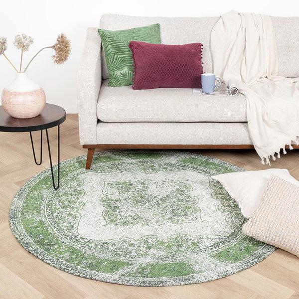 Rond Vintage vloerkleed - Admire Groen