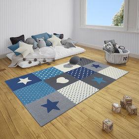 Hanse Home Kindervloerkleed - Lara Multi Grijs Blauw