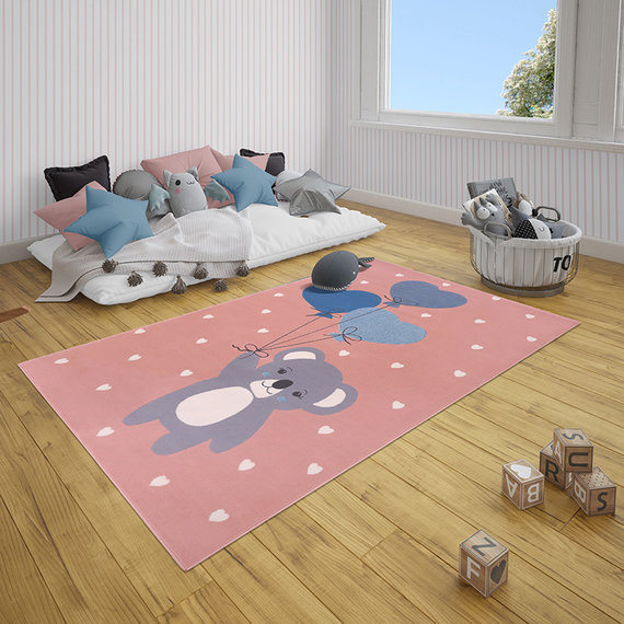 Hanse Home Kindervloerkleed - Lara Koalabeer Roze