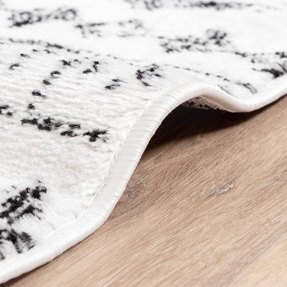 FRAAI Scandinavisch Vloerkleed - Scandi Noak Zwart/Wit