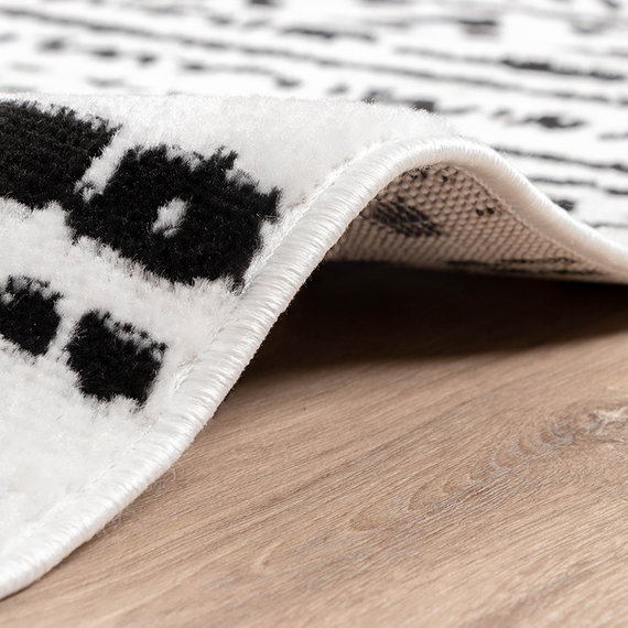 FRAAI Scandinavisch Vloerkleed - Scandi Geo Zwart/Wit