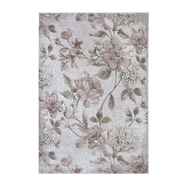 Bloemen vloerkleed - Provence Jardin Roze Creme