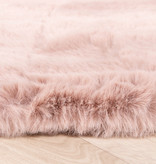 FRAAI Rond Hoogpolig vloerkleed - Comfy Roze