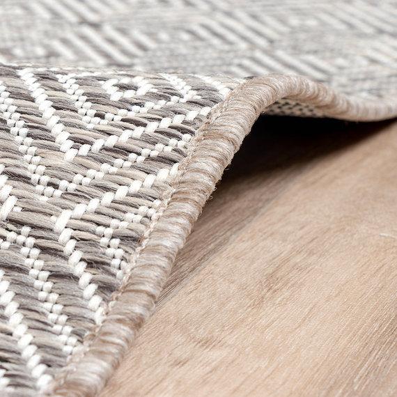 FRAAI Buitenkleed - Summer Tile Lichtgrijs