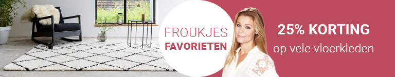 Froukjes Favorieten- 25% korting op heel veel vloerkleden