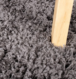 FRAAI Hoogpolig vloerkleed - Solid Donker Grijs