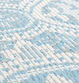 FRAAI Rond Buitenkleed - Summer Oriental Lichtblauw