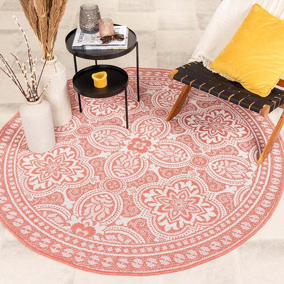 FRAAI Rond Buitenkleed - Summer Oriental Roze